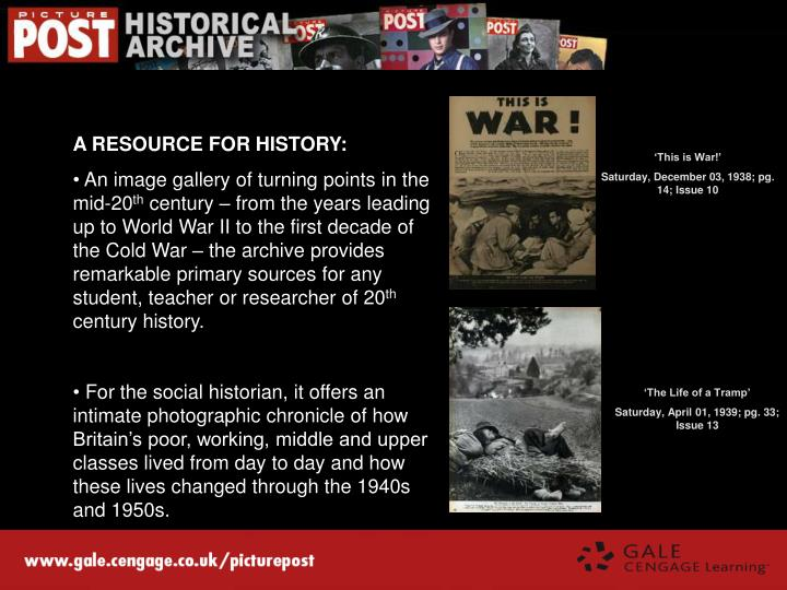 A RESOURCE FOR HISTORY: