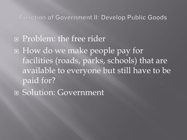 the purpose and function of a government