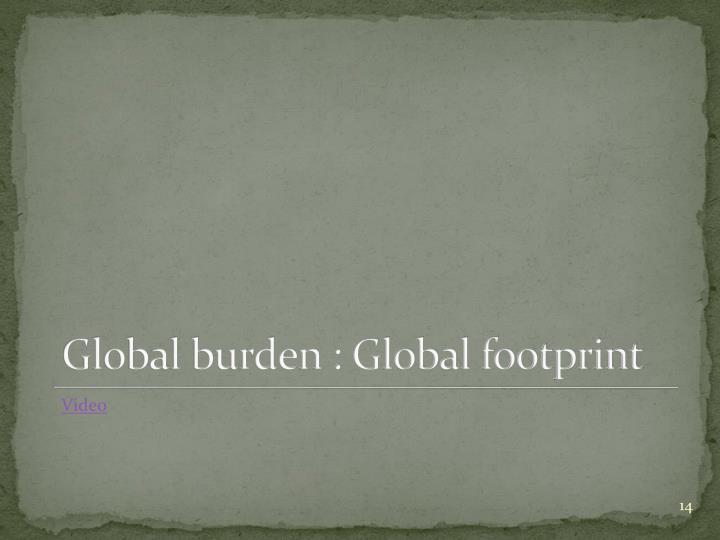 Global burden : Global footprint