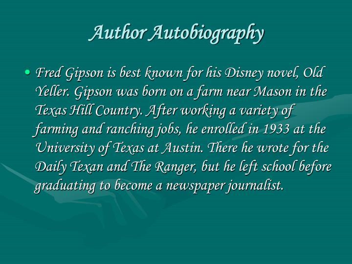 Author Autobiography