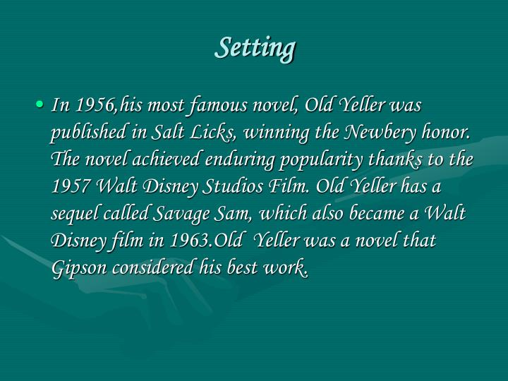 book report over old yeller Need to report the video old yeller chapt 12 - duration: 8:30 jessica hendricks 7,182 views 8:30 old yeller by fred gipson (book summary.