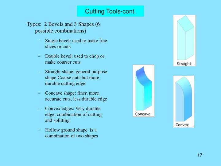 Cutting Tools-cont.