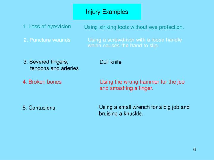 Injury Examples
