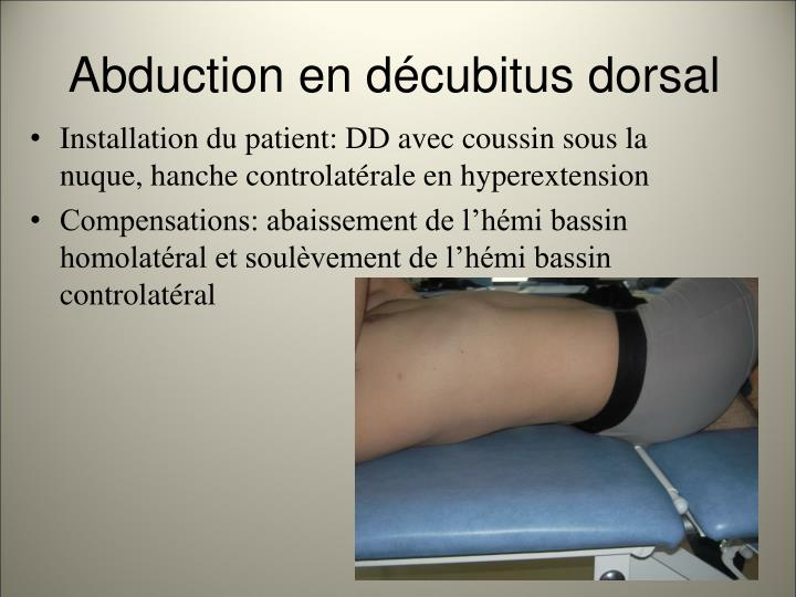 Abduction en d cubitus dorsal