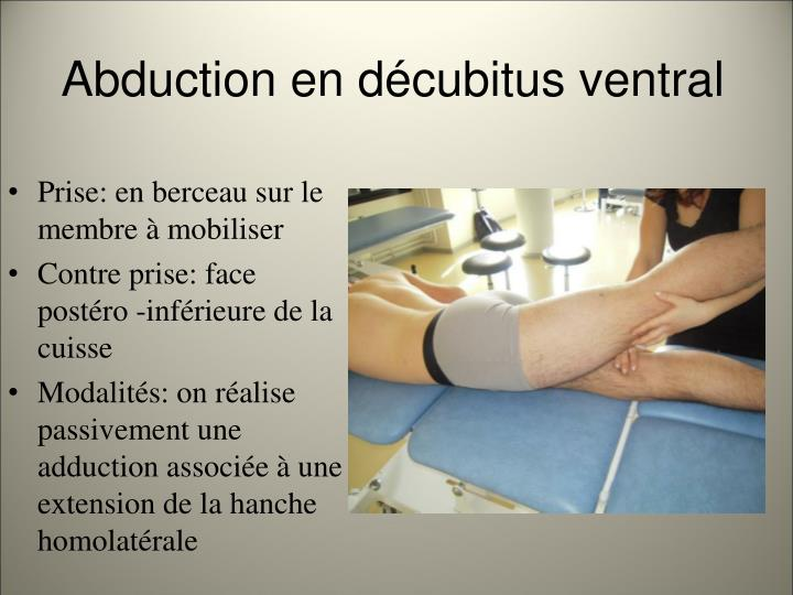 Abduction en décubitus ventral