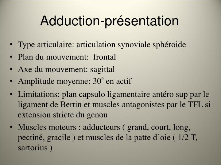 Adduction pr sentation