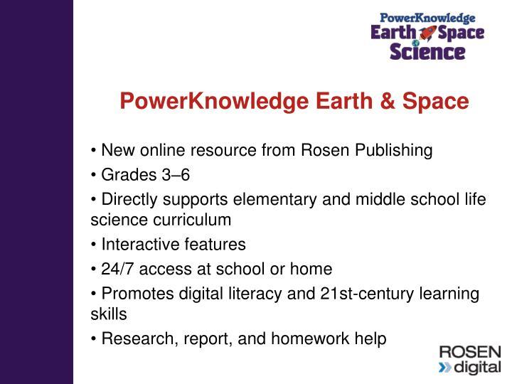 PowerKnowledge Earth & Space