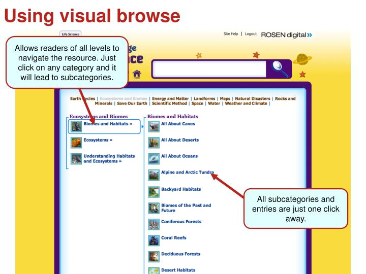 Using visual browse