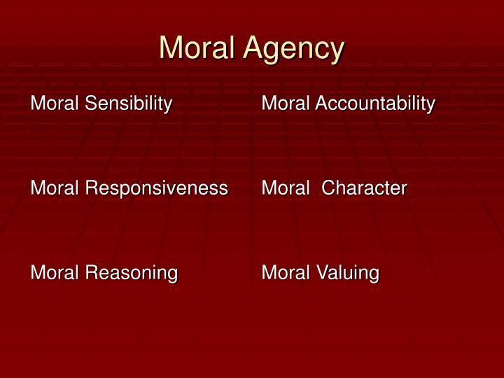 Moral Sensibility