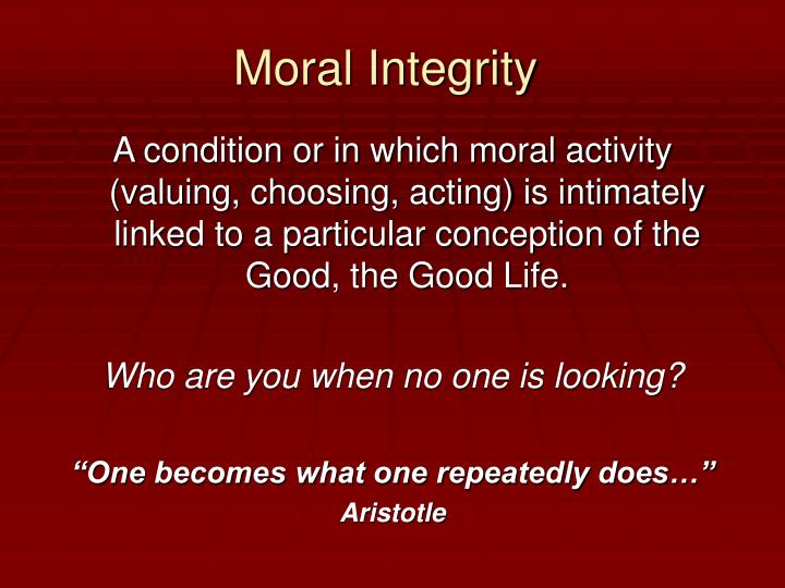 Moral Integrity