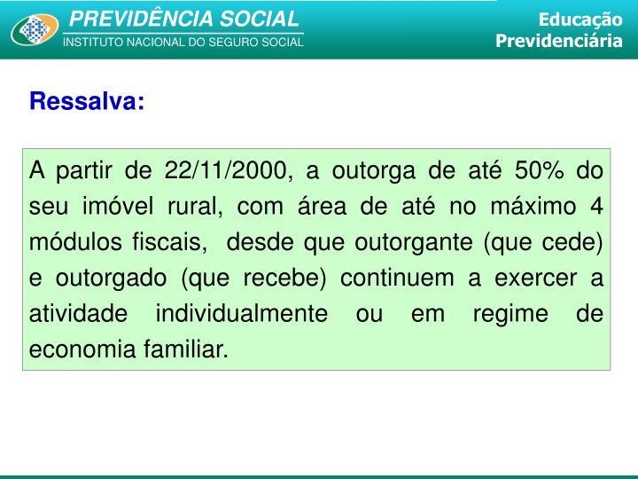 Ressalva: