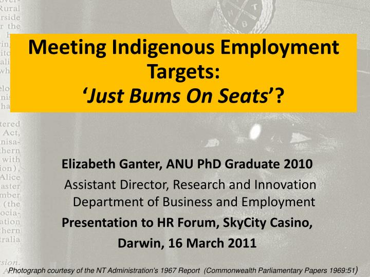Meeting Indigenous Employment Targets: