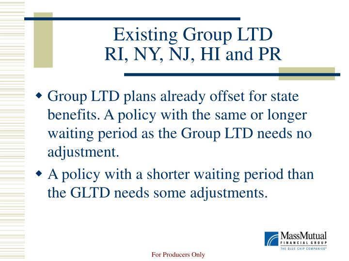 Existing group ltd ri ny nj hi and pr