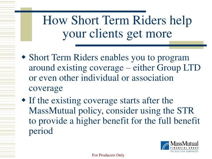 How Short Term Riders help your clients get more