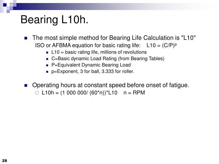 Bearing L10h.
