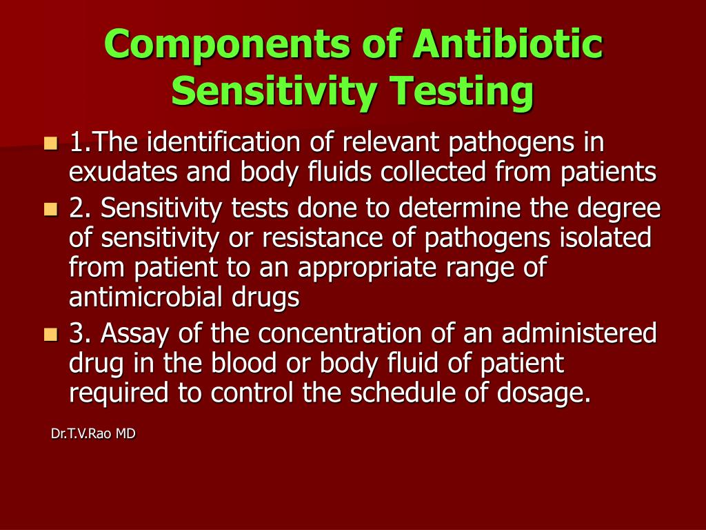Components of Antibiotic Sensitivity Testing