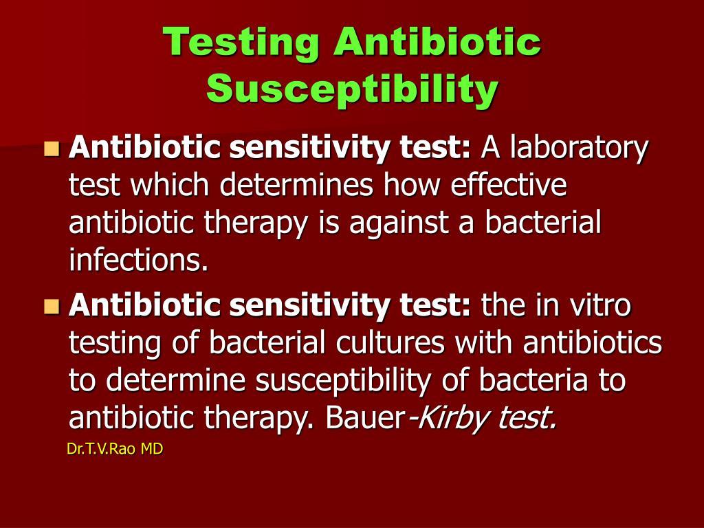 Testing Antibiotic Susceptibility