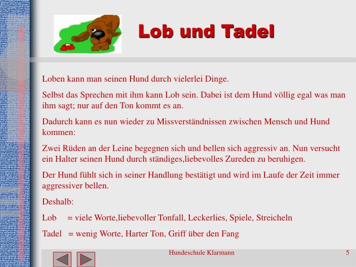 Lob und Tadel