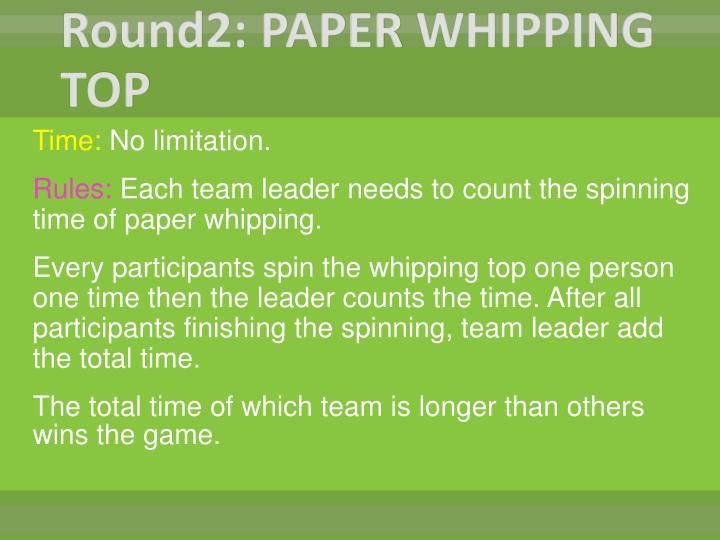 Round2: PAPER