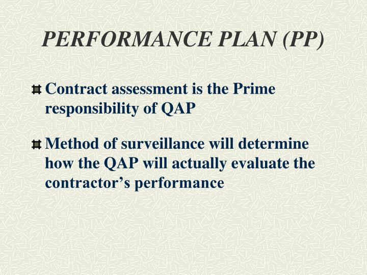 PERFORMANCE PLAN (PP)