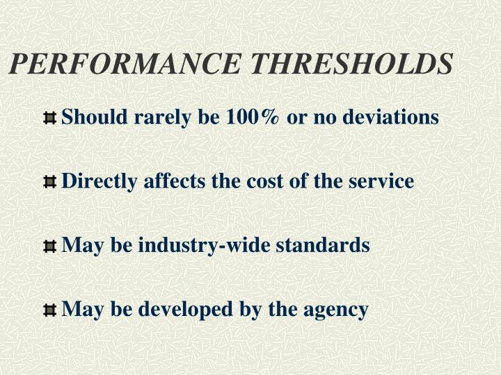 PERFORMANCE THRESHOLDS