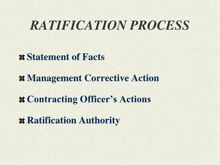 RATIFICATION PROCESS