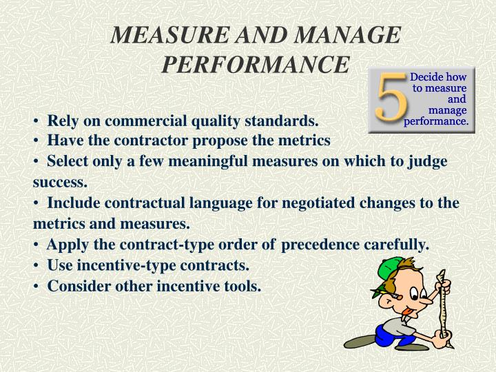 MEASURE AND MANAGE PERFORMANCE