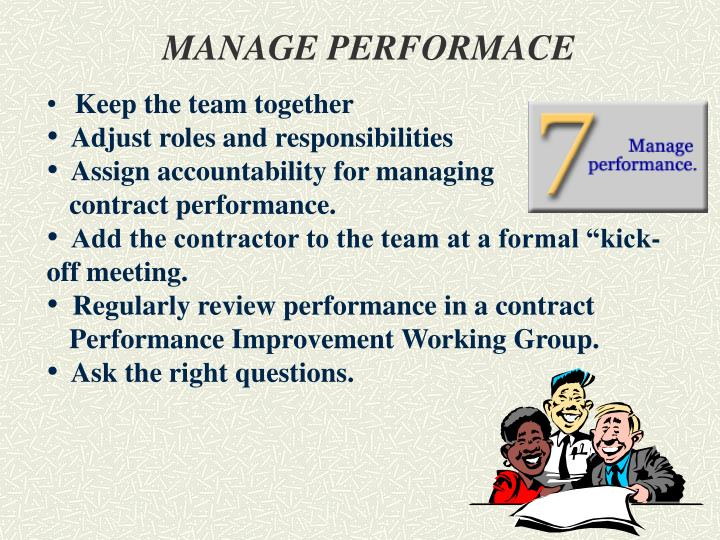 MANAGE PERFORMACE