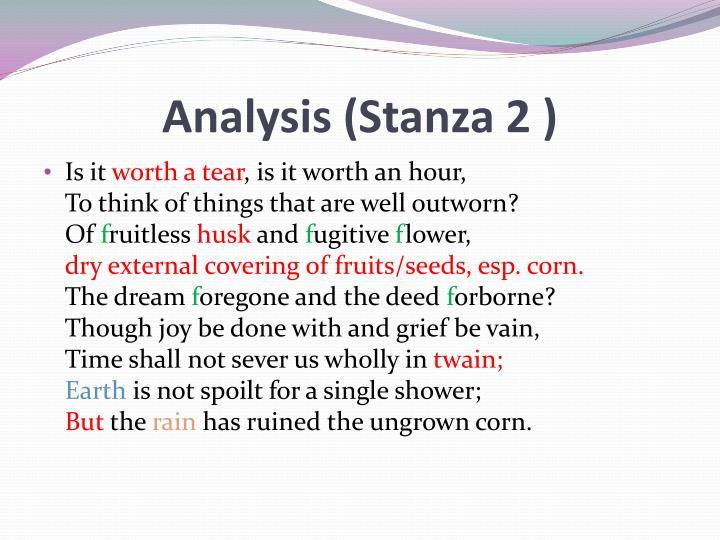 Analysis (Stanza 2 )