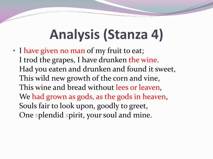 Analysis (Stanza 4)