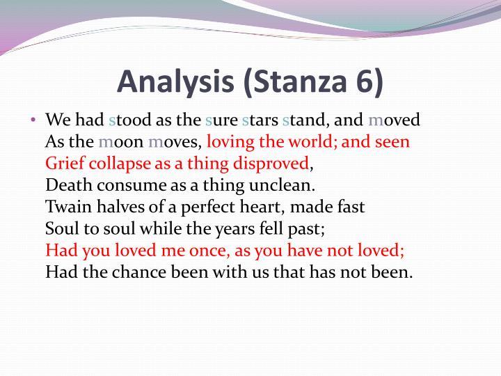Analysis (Stanza 6)