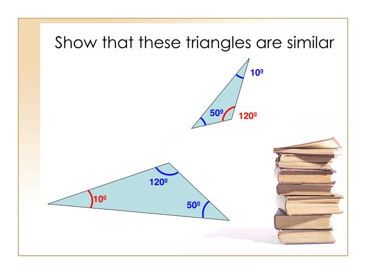 Show that these triangles are similar