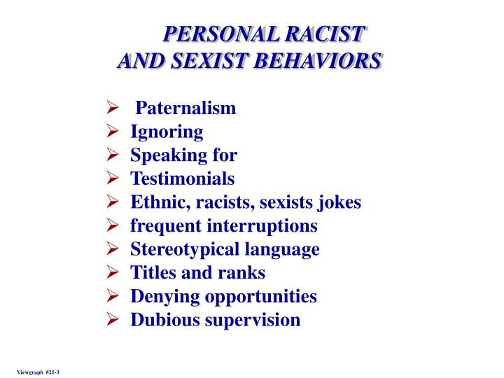 PERSONAL RACIST