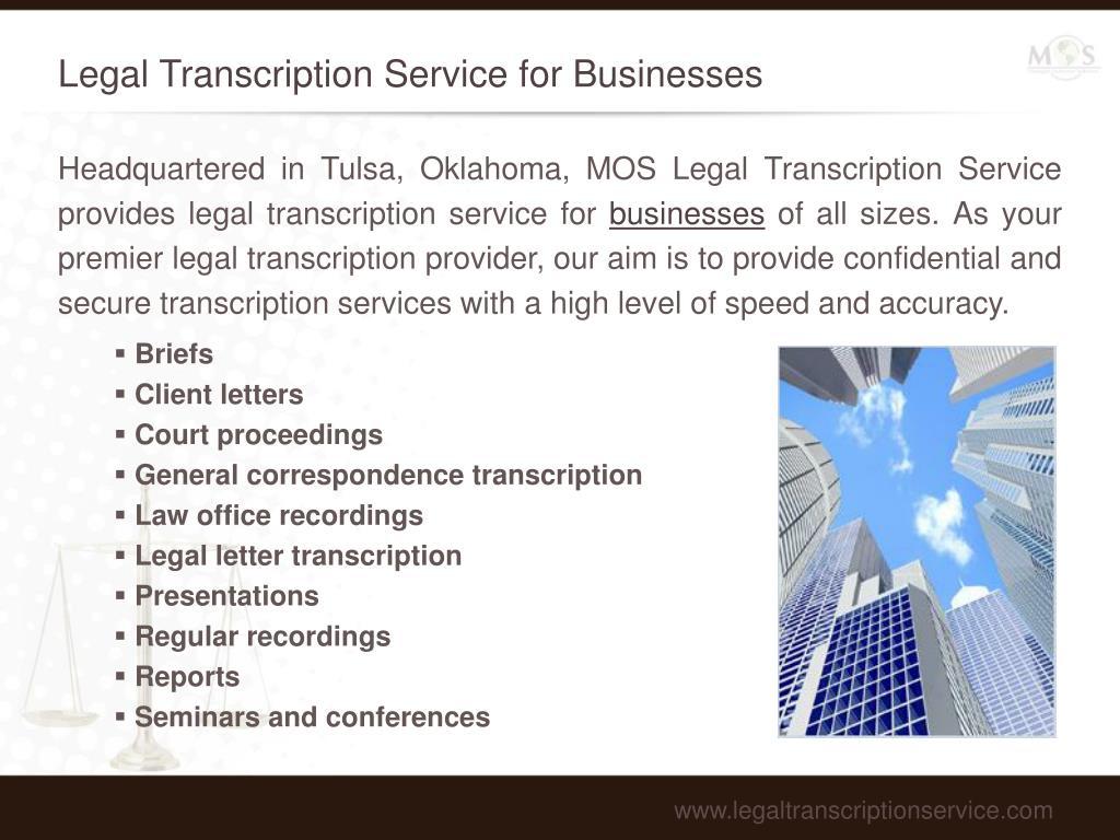 Legal Transcription Service for Businesses