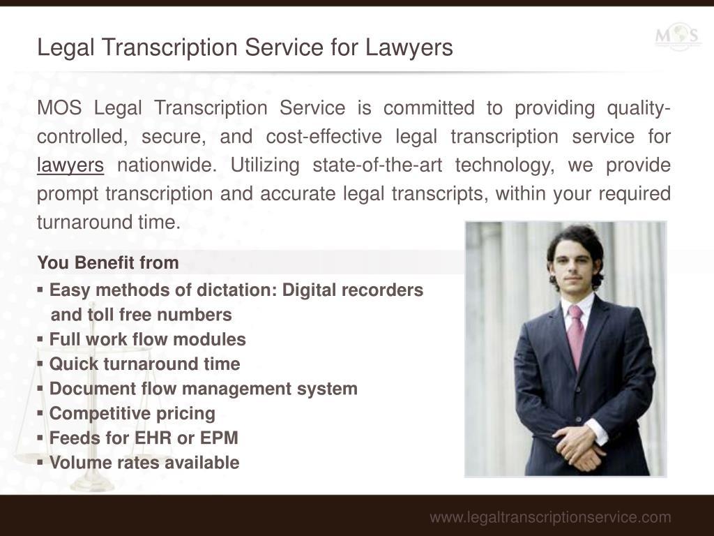 Legal Transcription Service for Lawyers