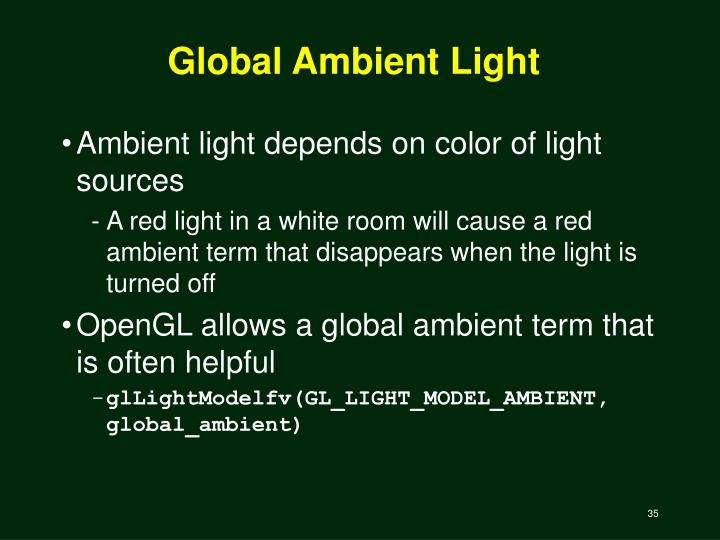 Global Ambient Light