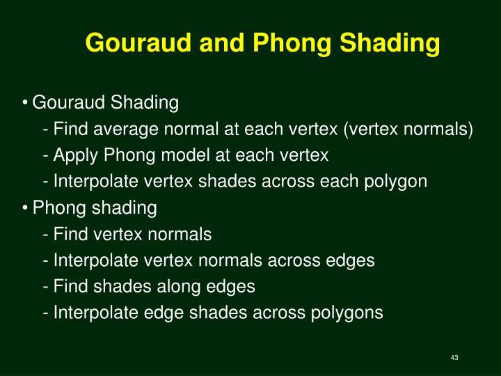Gouraud and Phong Shading