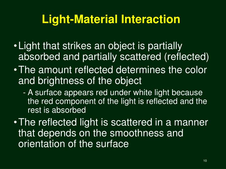 Light-Material Interaction
