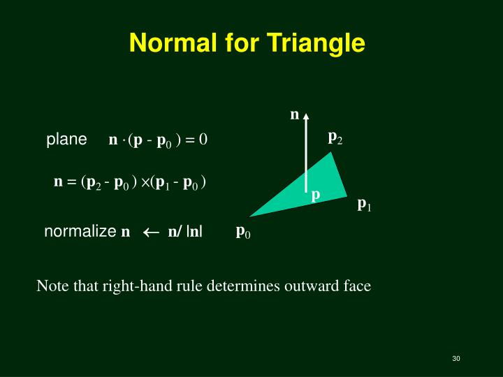 Normal for Triangle