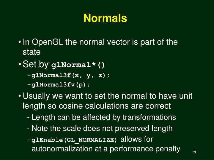 Normals