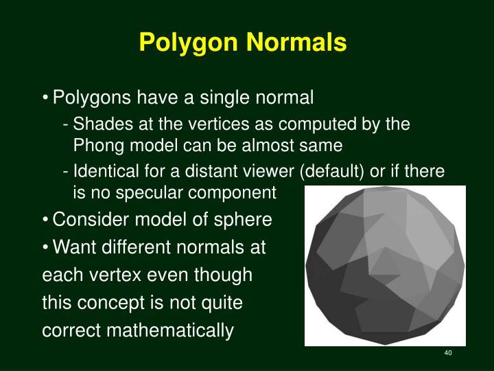 Polygon Normals