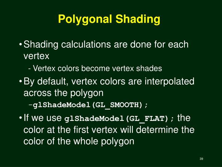 Polygonal Shading