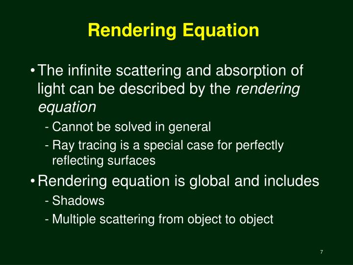 Rendering Equation