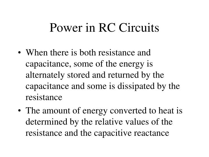 Power in RC Circuits