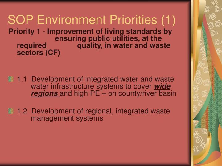 SOP Environment Priorities (1)