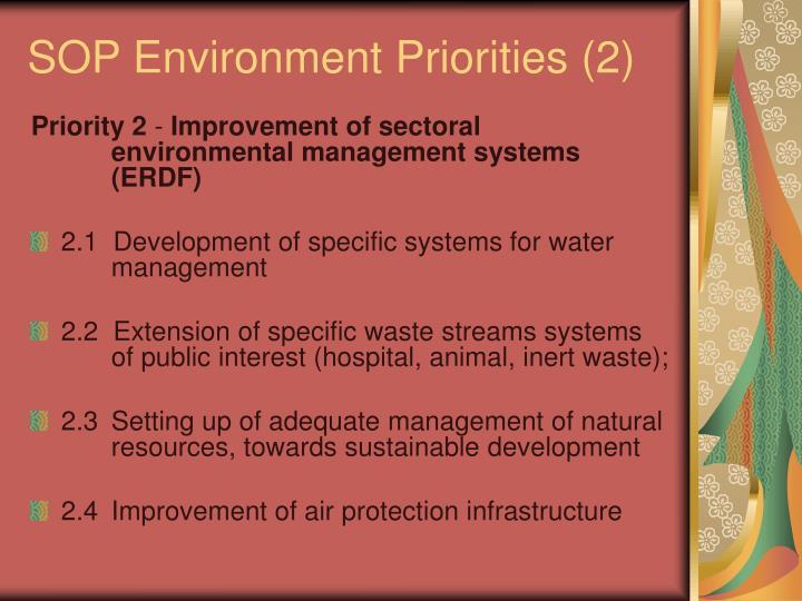 SOP Environment Priorities (2)