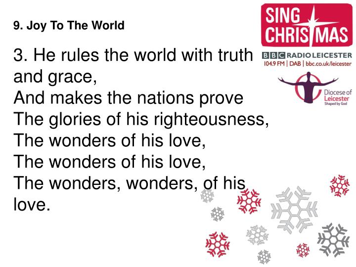 9. Joy To The World
