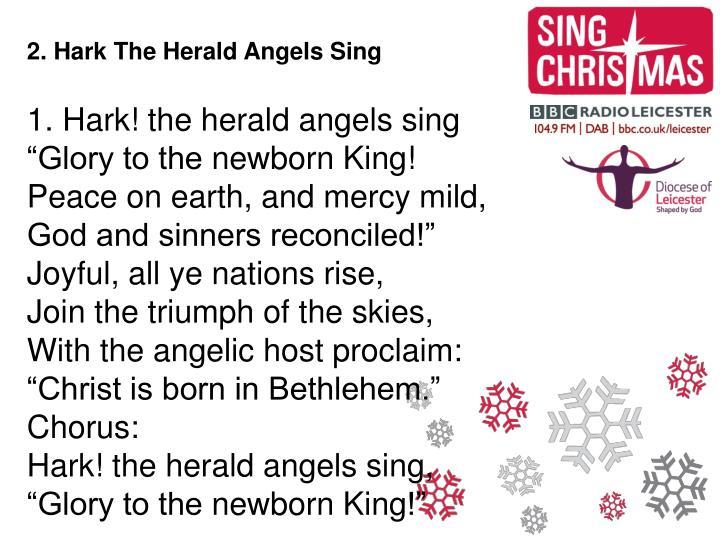 2. Hark The Herald Angels Sing