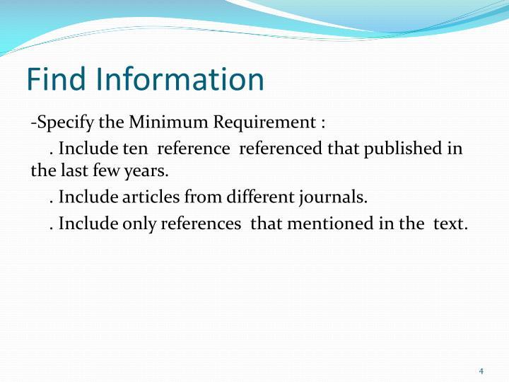 Find Information