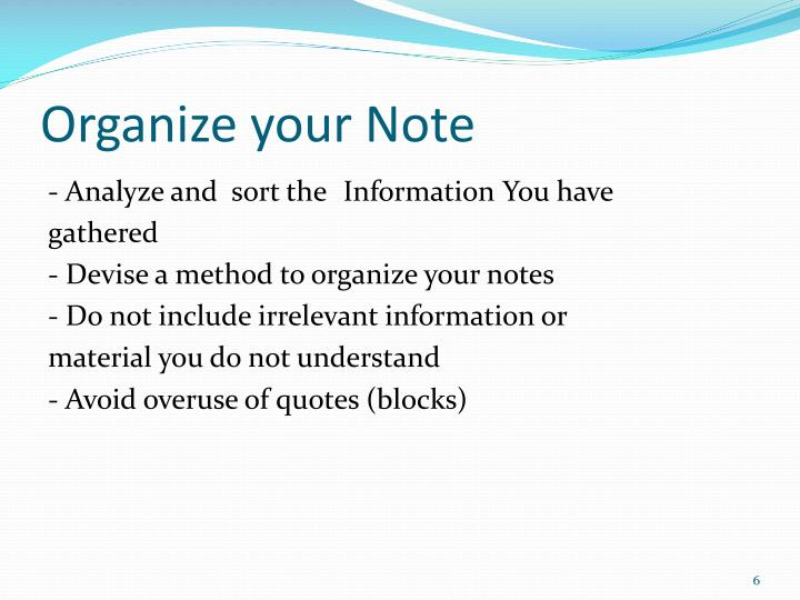 Organize your Note